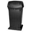 Ranger Fire-Safe Container, Square W/2 Doors, Structural Foam, 65 gal, Black RCP9175BLA
