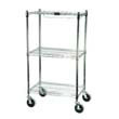 Rubbermaid [9G59] ProSave Shelf Ingredient Bin Cart, 3 Shelves, 18w x 26d x 47 3/4, Chrome RCP9G59