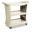 3-Shelf Executive Service Cart - Platinum - 300 lbs. Capacity RCP9T68PLA