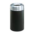 Crowne Collection Open Top Receptacle, Round, Steel, 30 gal, Aluminum/Green RCPAOT30SAGRPL