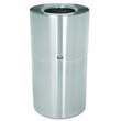 Two-Piece Open Top Indoor Receptacle, Round, Satin Aluminum, 35 gal RCPAOT35SAPL