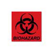 Biohazard Decal, 5-3/4 x 6, Fluorescent Red RCPBP-1