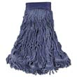 Swinger Loop Wet Mop Heads, Cotton/Synthetic, Blue, X-Large RCPC154BLU