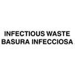 """Infectious Waste"" Medical Decal, White - 10"" x 4"" RCPCL-4"