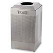 Rubbermaid [DCR24TSM] Silhouette Waste Receptacle, Square, Steel, 29 gal, Silver Metallic RCPDCR24TSM