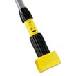 "54"" Gripper Clamp Style Wet Mop Handle - Fiberglass - Black RCPH245"