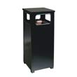 Flat Top Waste Receptacle, Square, Steel, 12 gal, Brown RCPR12-201PL
