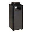 Ash/Trash Receptacle w/Weather Urn, Square, Steel 12 gal, Brown RCPR12WU201