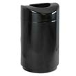 Eclipse Open Top Waste Receptacle, Round, Steel, 30 gal, Black RCPR2030EPLBK
