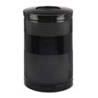 Classics Perforated Open Top Receptacle, Round, Steel, 51 gal, Black RCPS55ETBK