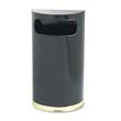 European & Metallic Series Receptacle, Half-Round, 9 gal, Black/Brass RCPSO8-10BPL