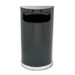 European & Metallic Series Receptacle, Half-Round, 9 gal, Black/Chrome RCPSO8-20PLBK
