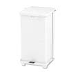 Rubbermaid [ST12EPL] Defenders Biohazard Step Can, Square, Steel, 12 gal, White RCPST12EPLWH