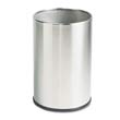 European & Metallic Series Wastebasket, Round, 5 gal, Satin Stainless RCPUB1900SSS