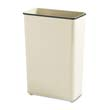 Fire-Safe Wastebasket, Rectangular, Steel, 24 gal, Almond RCPWB96RAL