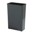 Fire-Safe Wastebasket, Rectangular, Steel, 24 gal, Black RCPWB96RBLA
