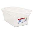 Clever Store Snap-Lid Container, 1.625gal, Clear RHP3Q31CLE