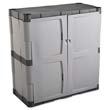 Double-Door Storage Cabinet - Base, 36w x 18d x 36h, Gray/Black RHP7085