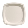 Bare Eco-Forward Sugarcane Plates, 10 Inches, Ivory, Square, 125/Pack SCC10PSC