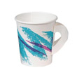 Jazz Hot Paper Cups with Handles, 6 oz., Polycoated, Jazz Design, 50/Bag SCC376HJZJ
