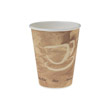 Mistique Polycoated Hot Paper Cup, 8 oz., Printed, Brown, 50/Bag SCC378MS