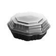 OctaView HF Containers, Black/Clear - (100) 21 oz Containers SCC807012-PP94