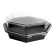 OctaView CF Containers, Black/Clear - (100) 42 oz. Containers SCC864056-AP94