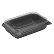 1-Comp Dinner Box, Black/Clear - (100) 64 oz. Containers SCC919017-PM94