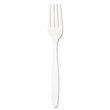 Guildware Heavyweight Plastic Forks, White SCCGBX5FW