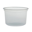 MicroGourmet Food Container, 16 oz, Plastic, Translucent, 50/Pack SCCMN16