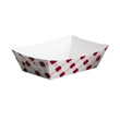 Clay Coated Paper Food Tray, Red Plaid, 1 Lb, 250/4 SCCNFT1