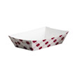Clay Coated Paper Food Tray, Red Plaid, 2 Lb, 250/4 SCCNFT2