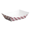 Clay Coated Paper Food Tray, Red Plaid, 3 Lb, 250/2 SCCNFT3