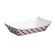 Clay Coated Paper Food Tray, Red Plaid, 5 Lb, 250/2 SCCNFT5