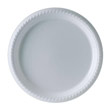 Plastic Plates, 10 1/4 Inches, White, Round, 25/Pack SCCPS15W