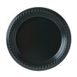 Party Plastic Plates, 7 1/4in, Black, 25/Pack SCCPS75E