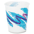 Jazz Waxed Paper Cold Cups, 5 oz, Tide Design SCCR53J