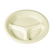 Foam Plates, 10 1/4 in., Champagne, Round, 3 Compartment, Heavyweight, 500/Pack SCCSS10CYC