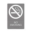 ADA Sign, No Smoking Symbol w/Tactile Graphic, Molded Plastic, 6 x 9, Gray UST4813
