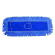 "Looped-End Cotton/Synthetic Dust Mop Head - 18"" x 5"" - Blue BWK1118"