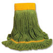 EcoMop Looped-End Mop Head, Recycled Fibers, Medium Size, Green BWK1200M