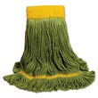 EcoMop Looped-End Mop Head, Green - (12) X-Large Heads BWK1200XL