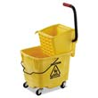 Pro-Pac Side-Squeeze Wringer/Bucket Combo, 8.75 gal, Yellow UNS2635COMBOYEL