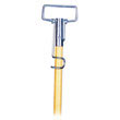 Spring Grip Metal Head Mop Handle for Most Mop Heads, 60in Wood Handle UNS609