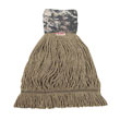 Patriot Looped End Wide Band Mop Head, Large, Green/Brown BWK8200L