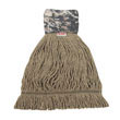 Patriot Looped End Wide Band Mop Head, Medium, Green/Brown BWK8200M