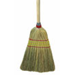 "Parlor Broom, Corn Fiber Bristles, 42"" Wood Handle, Natural UNS926C"