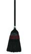 "Flag-Tip Janitor Push Brooms, Poly Bristles, 42"", Natural/Black UNS930BP"