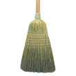 "Warehouse Broom, Corn Fiber Bristles, 42"" Wood Handle, Natural UNS932C"