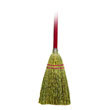 "Lobby/Toy Broom, Corn Fiber Bristles, 39"" Wood Handle, Red/Yellow UNS951T"